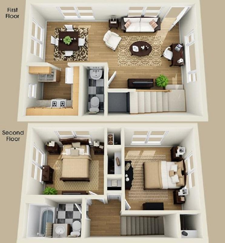21 Desain Rumah Unik Dua Lantai Buat Keluarga Baru