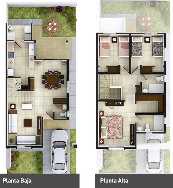 21 Desain Unik Rumah Mungil Dua Lantai buat Keluarga Baru