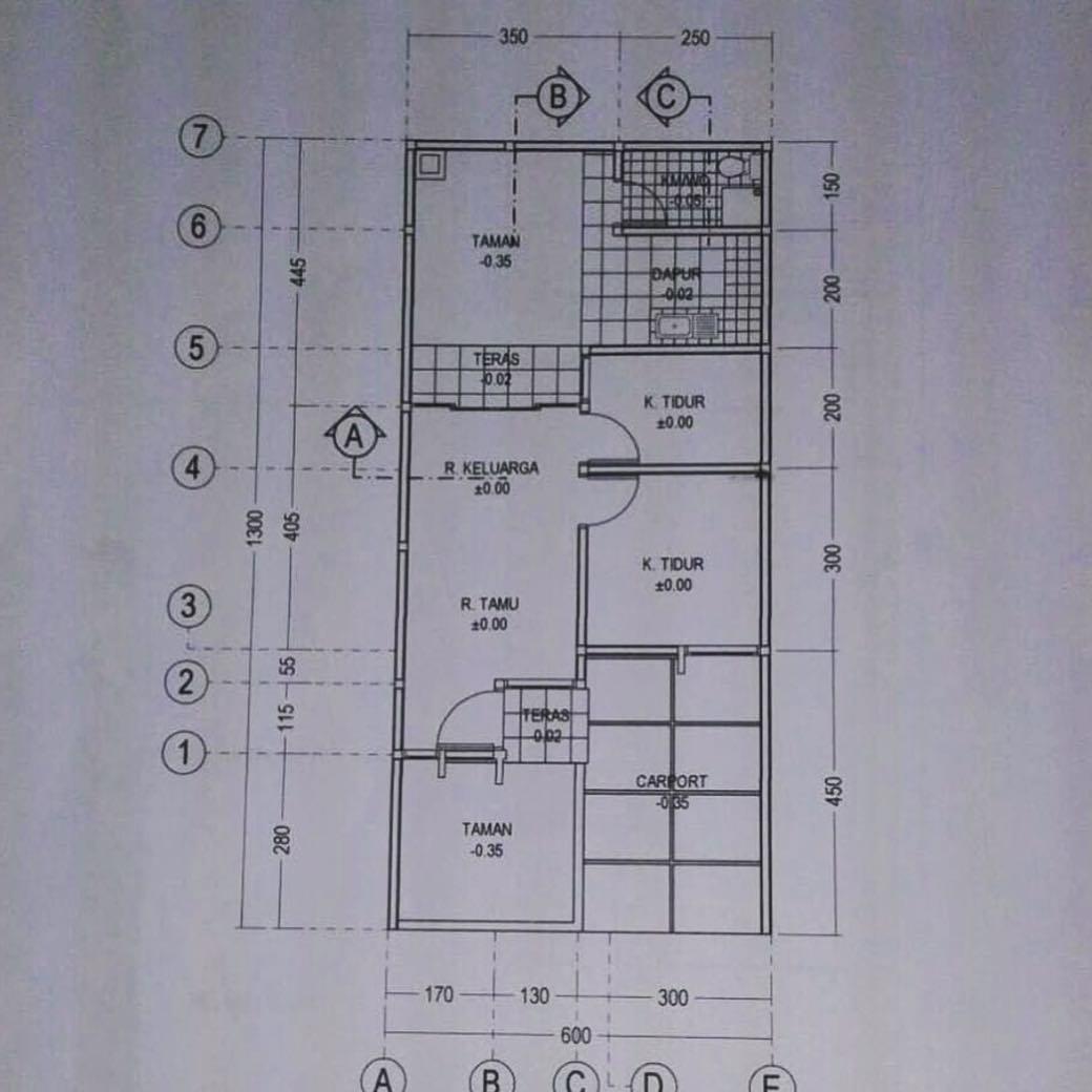 Foto  Denah Rumah Unik Tipe 45  Terkini Gratis