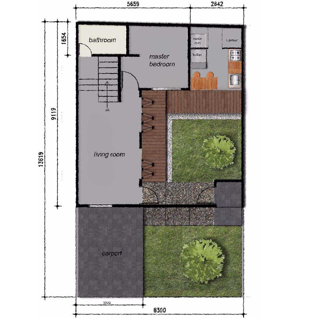 Rumah Damarisa : Hunian Keren dengan Konsep Dapur Industrial Terbuka