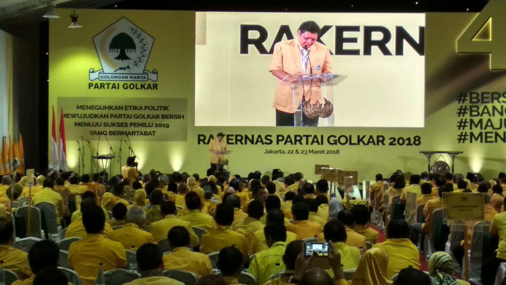 Gelar Rakernas, Partai Golkar Susun Strategi Menangkan Jokowi di Pilpres