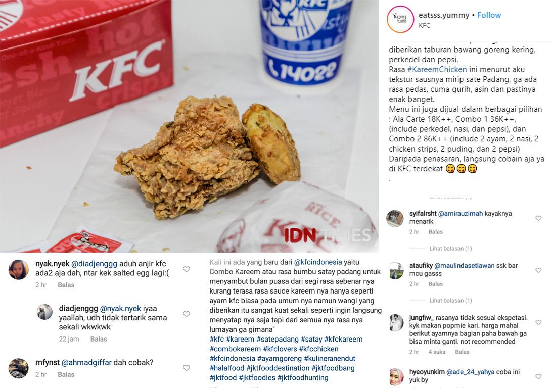 Saus Padang Jadi Menu Terbaru KFC, Cocok buat Buka Puasa Gak Ya?