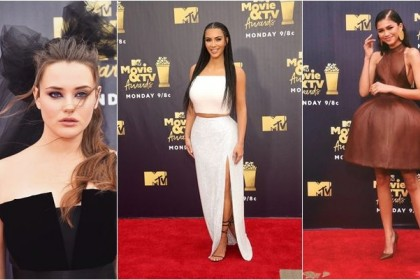 15 Potret Gaya Cetar Para Artis di Red Carpet MTV Movie & TV Awards