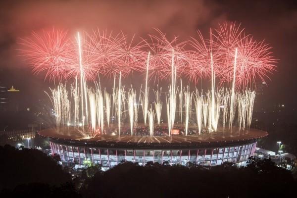 Jadi Tuan Rumah Asian Games 2022, Bendera China Berkibar di GBK