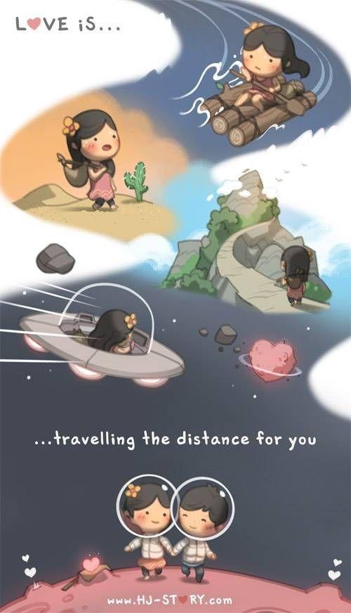 Bikin Baper Banget, 24 Ilustrasi Kisah Cinta Para Pejuang LDR