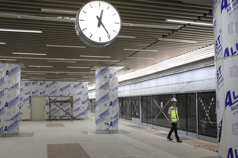 Pengerjaan Sudah 97,5 Persen, MRT Siap Digunakan Maret 2019