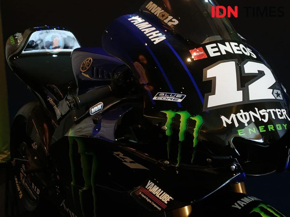 FOTO: Sentuhan Monster Energy Bikin Motor Rossi & Vinales Lebih Gahar