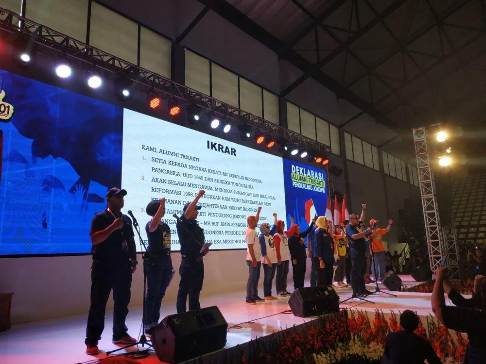 Hadiri Deklarasi Alumni Trisakti, Jokowi: Saya Bukan Pelanggar HAM!