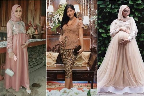 8 Inspirasi Kebaya Modern Untuk Ibu Hamil Cantiknya Makin Terpancar