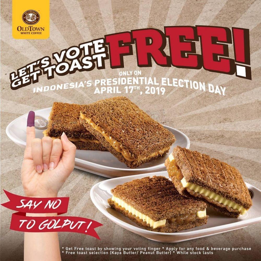 33 Promo Makan Murah Pemilu 2019, Diskonnya Gila-gilaan!