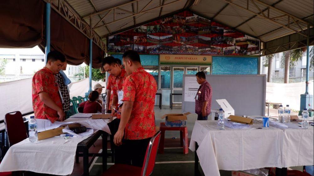 FOTO: Mengintip Proses Pemilu 2019 di LP Cipinang