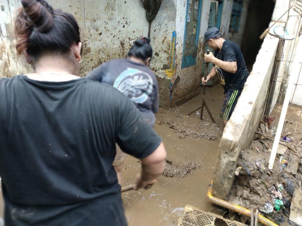 FOTO: Situasi Terkini Lokasi Banjir di Pejaten Timur, Jakarta Selatan