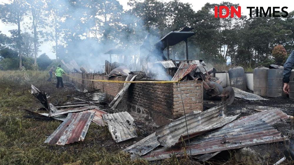 Gudang Traktor Petani Terbakar di Simalungun, Kerugian Rp600 Juta