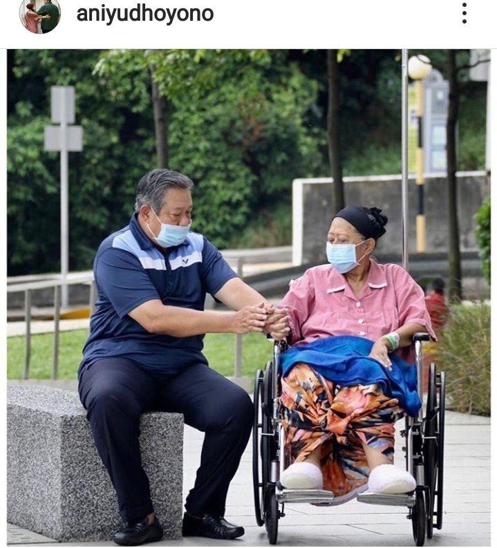 6 Potret Kebahagiaan Ani Yudhoyono Hirup Udara Segar di Singapura