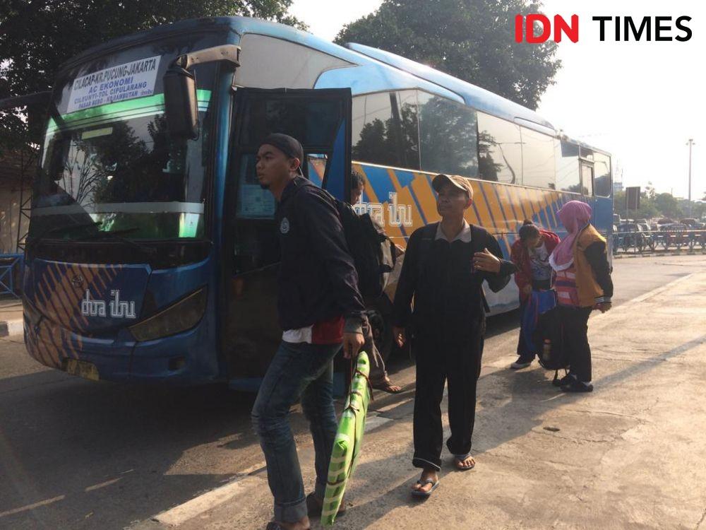 Hindari Pemeriksaan PPKM Darurat, Bus AKAP Gunakan Terminal Bayangan