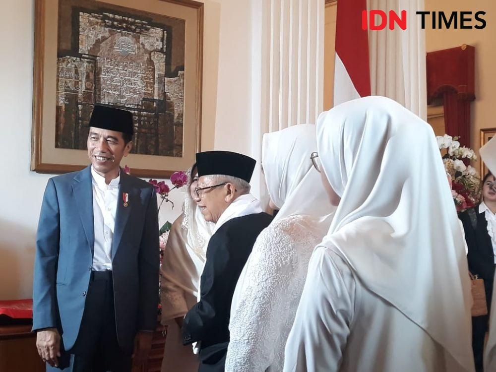 Open House di Istana, Keluarga Jokowi Tidak Full Team