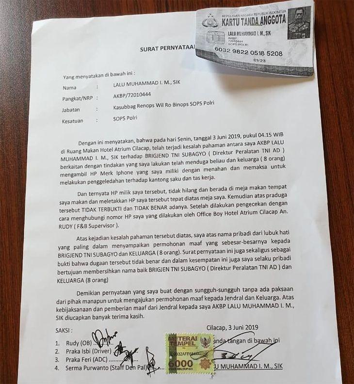 Video Viral, Cekcok AKBP Polisi dan Brigjen TNI di Hotel karena HP