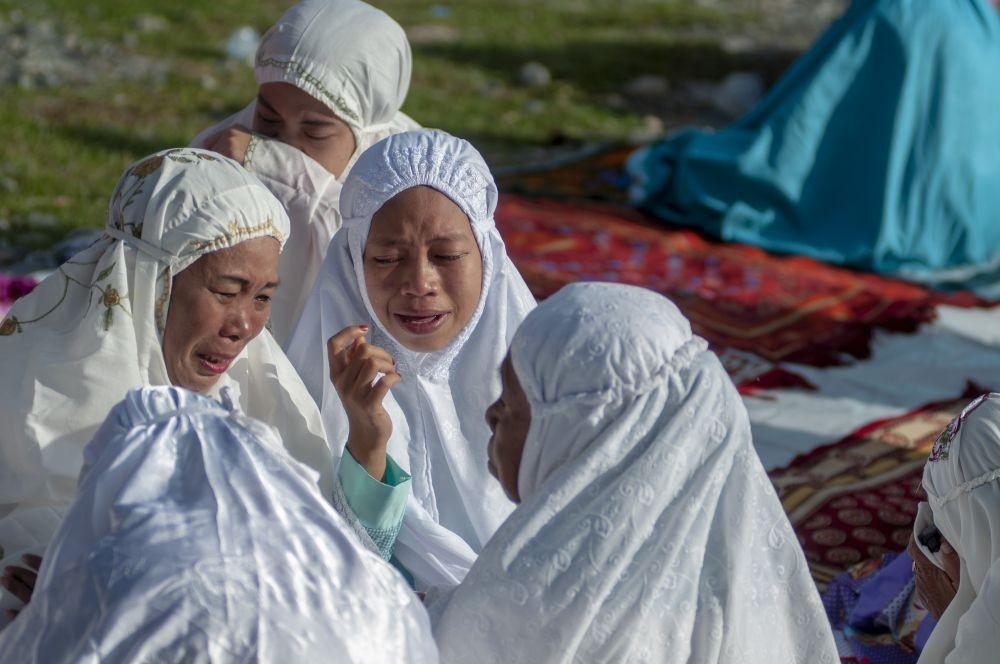 FOTO: Suasana Lebaran di Palu, Antara Air Mata dan Sukacita