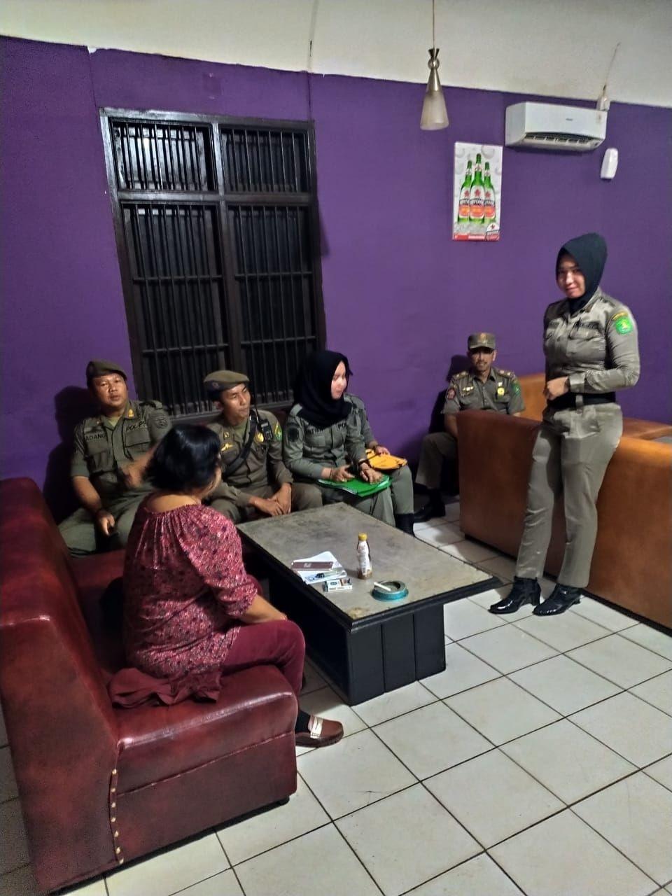Cegah Praktik Prostisusi di Sangatta,Satpol PP Merazia 6 THM