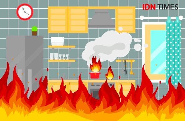 8 Rumah Asrama TNI di Kebun Lada Binjai Terbakar