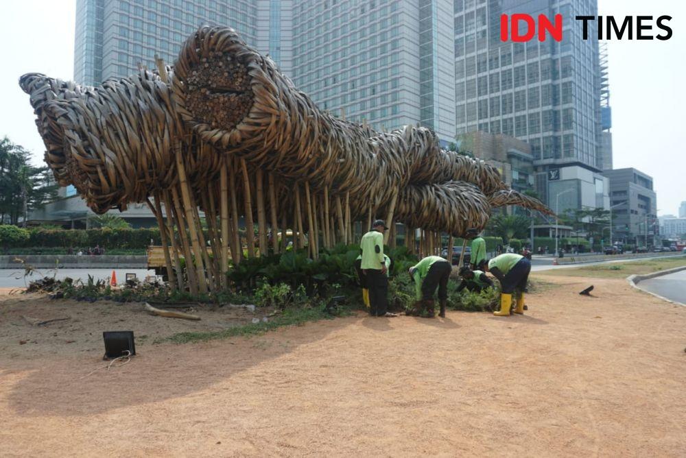 [FOTO] Masih Ingat Bambu di Bundaran HI? Begini Kondisinya Sekarang