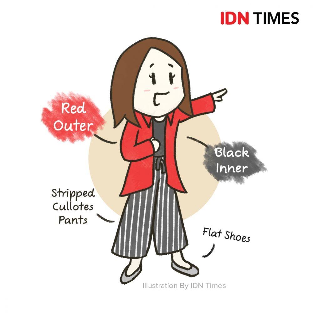10 Ilustrasi Referensi Baju Cewek ke Kampus,Nyaman Tetap Stylish