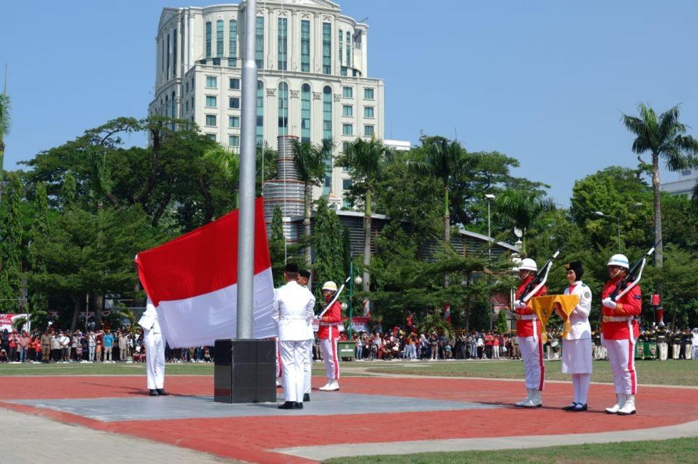 [FOTO] Aksi Paskibraka dari Persiapan Hingga Sukses Naikkan Bendera