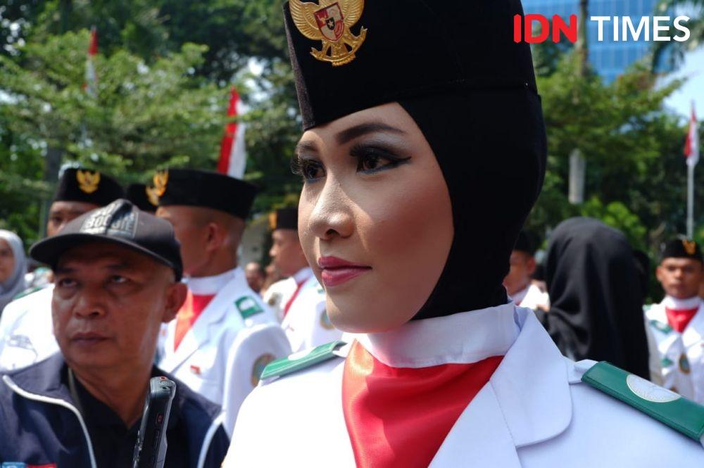Upacara HUT ke-74 RI, Pembawa Baki Deg-degan Berhadapan Gubernur