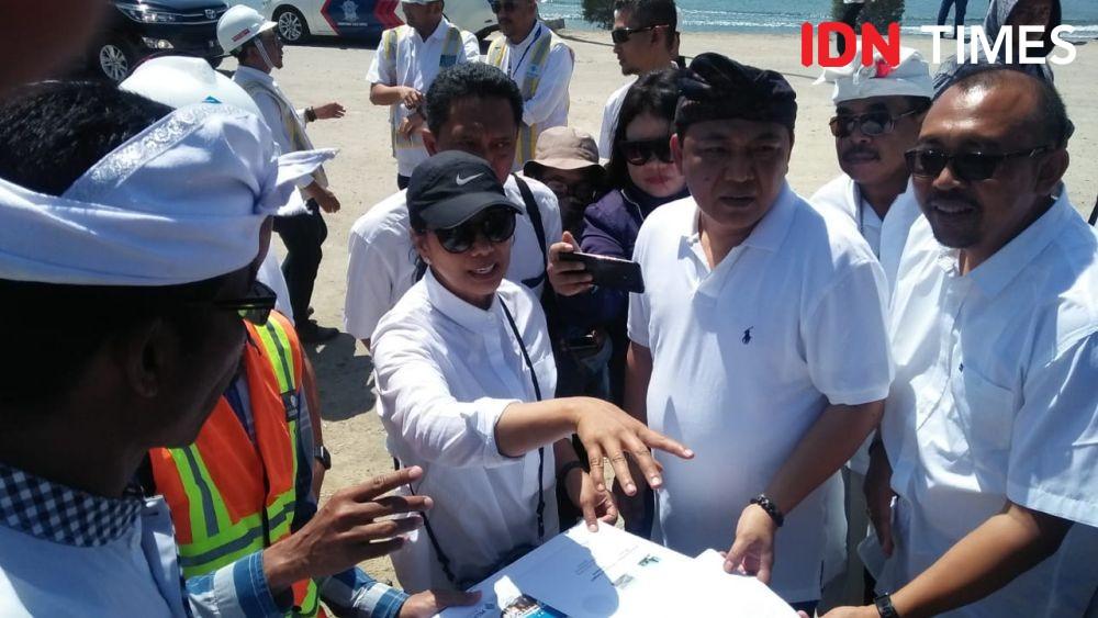 Tinjau Reklamasi Pelabuhan Benoa, Menteri Rini Bicara Kelestarian Alam