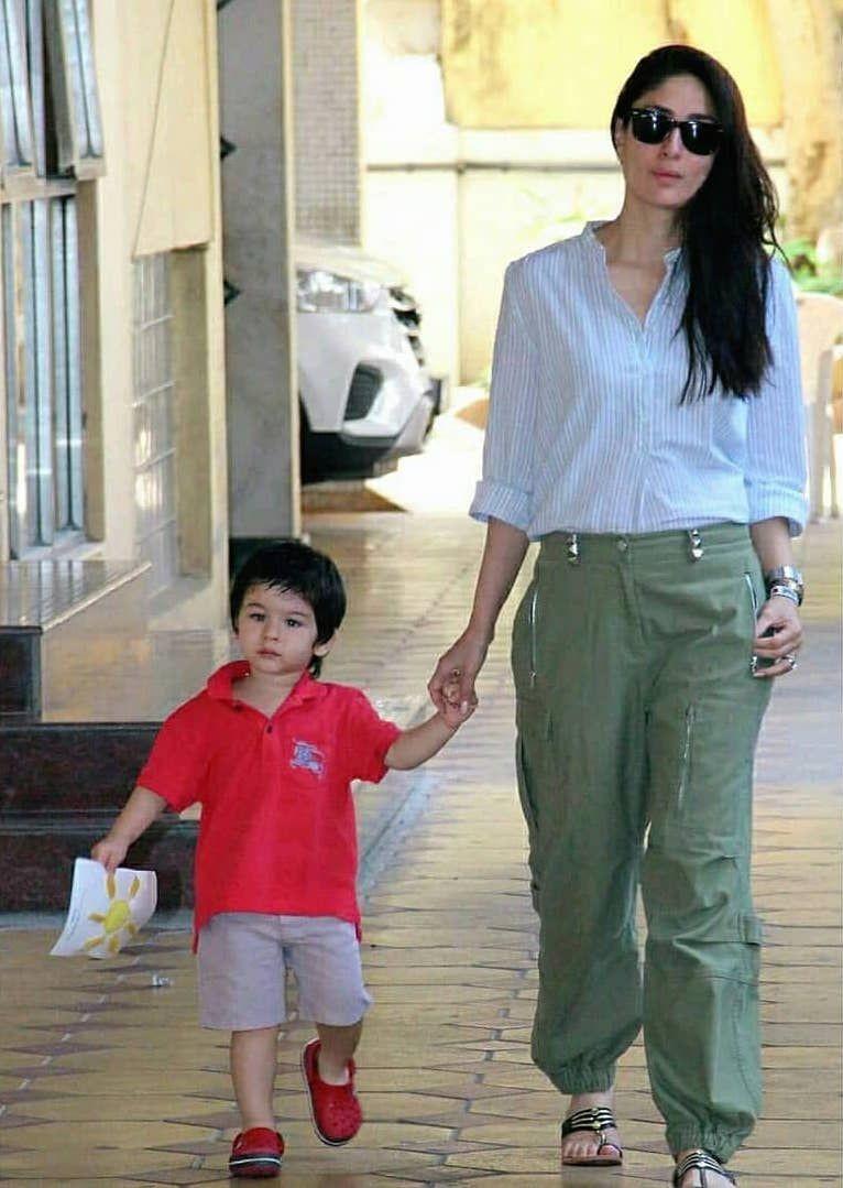 Tampil Stylish, 10 Potret Hits Kareena Kapoor Momong Baby Taimur