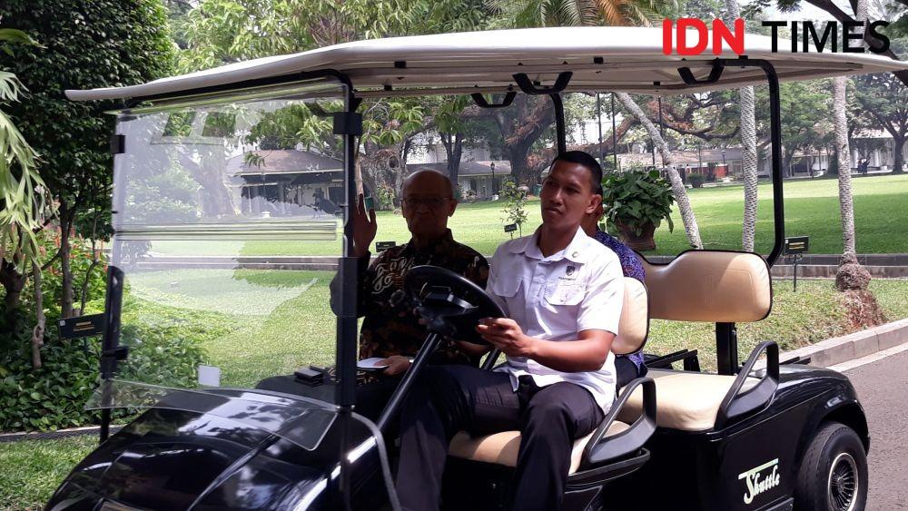 Buya Syafii Bertemu Jokowi Bahas Menteri Kabinet Kerja Jilid II