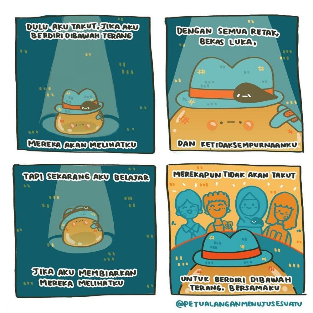 15 Ilustrasi Ini Ajak Kita Mencintai Diri Sendiri dan Melawan Depresi