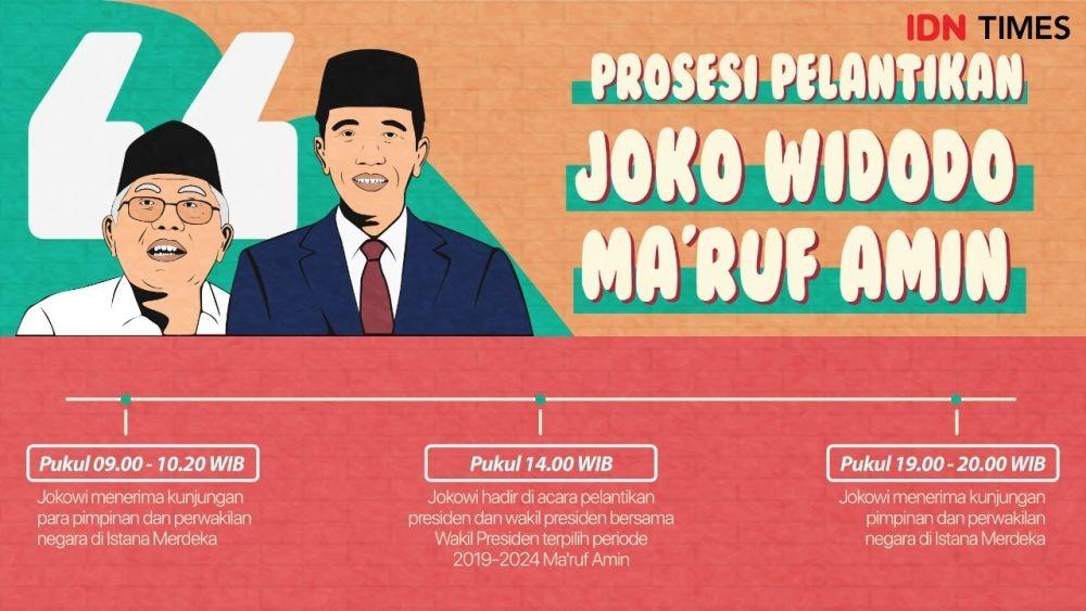 Ini Susunan Acara Pelantikan Jokowi-Ma'ruf, Mulai Pukul 14.30 WIB