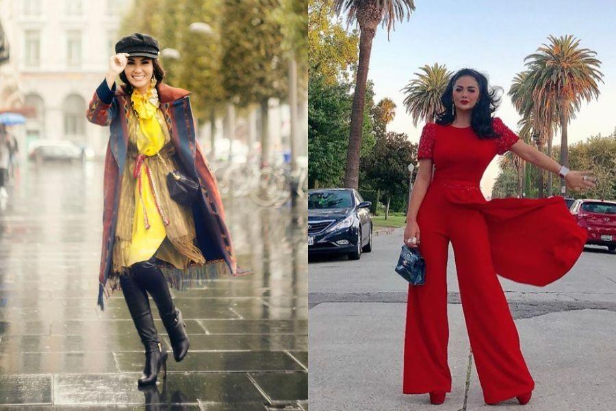 Sama-sama Stylish dan Awet Muda, 10 Adu Gaya Yuni Shara & Krisdayanti