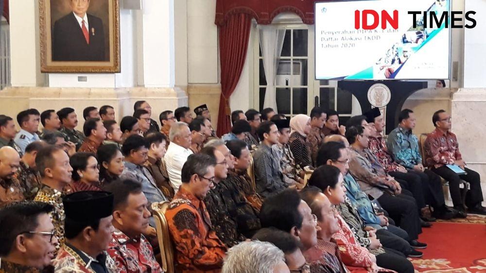 Beri Sambutan di Istana, Jokowi Hampir Lupa Sebut Nama Ma'ruf Amin