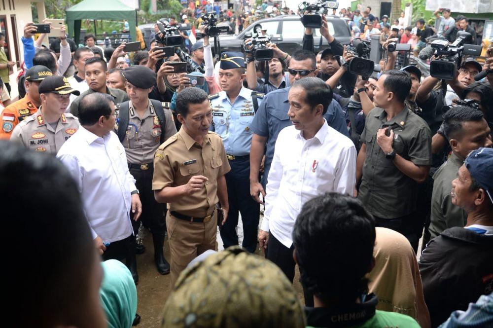 Jokowi Datang ke Lebak, Tinjau Penanganan Korban Banjir Bandang