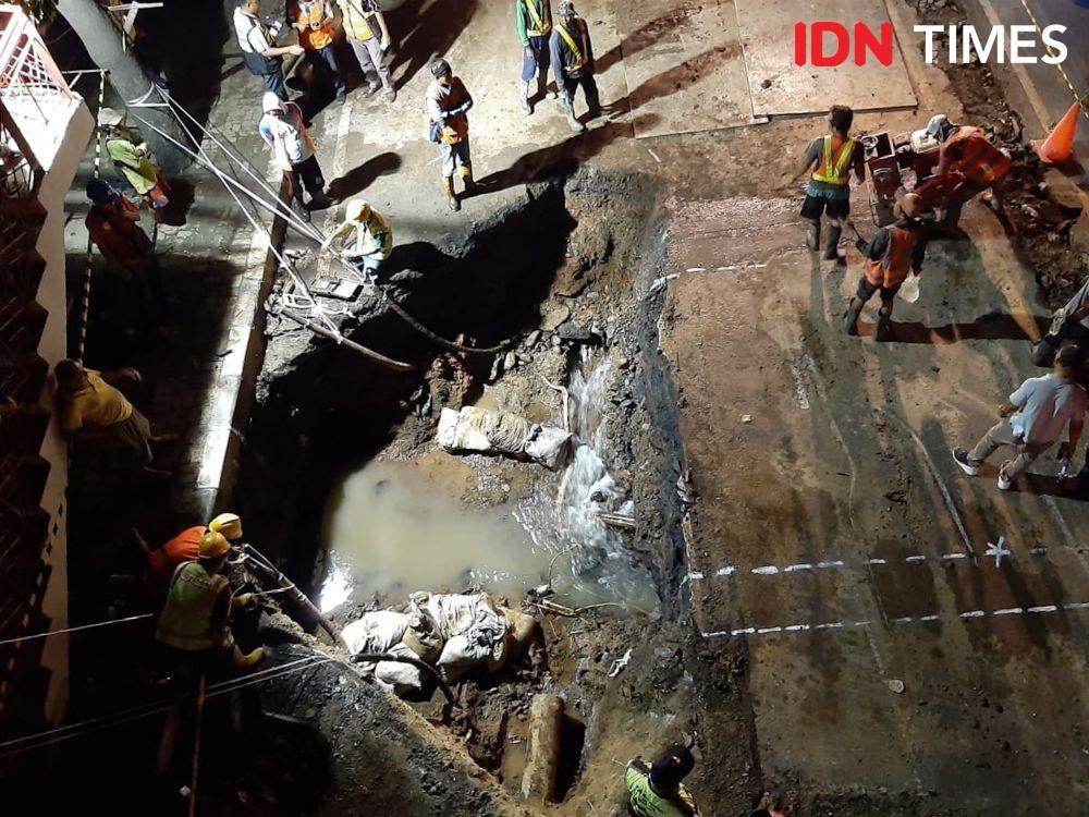 [FOTO] Kondisi Terkini Perbaikan Jalan Daan Mogot yang Ambles