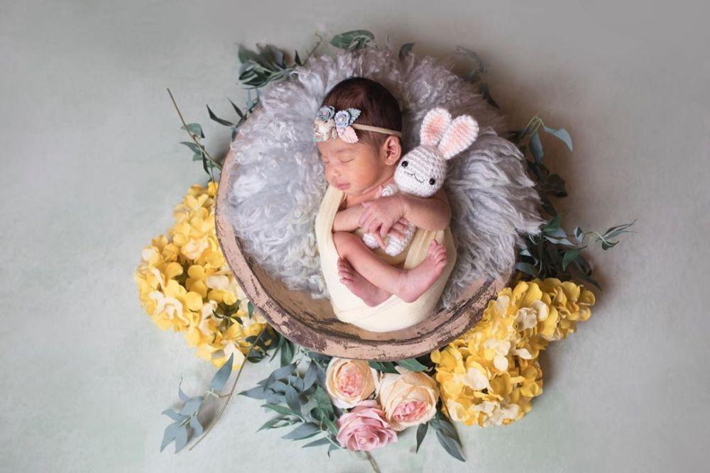 10 Potret Uwu Baby Aleena, Putri Rizky Alatas dan Adzana Bing Slamet