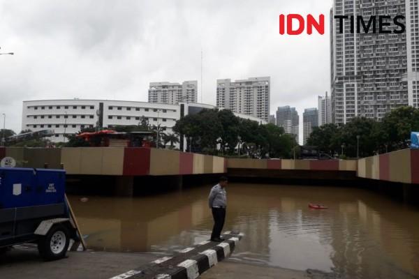 KemenPUPR Ikut Kerahkan Pompa Sedot Banjir di Terowongan Kemayoran
