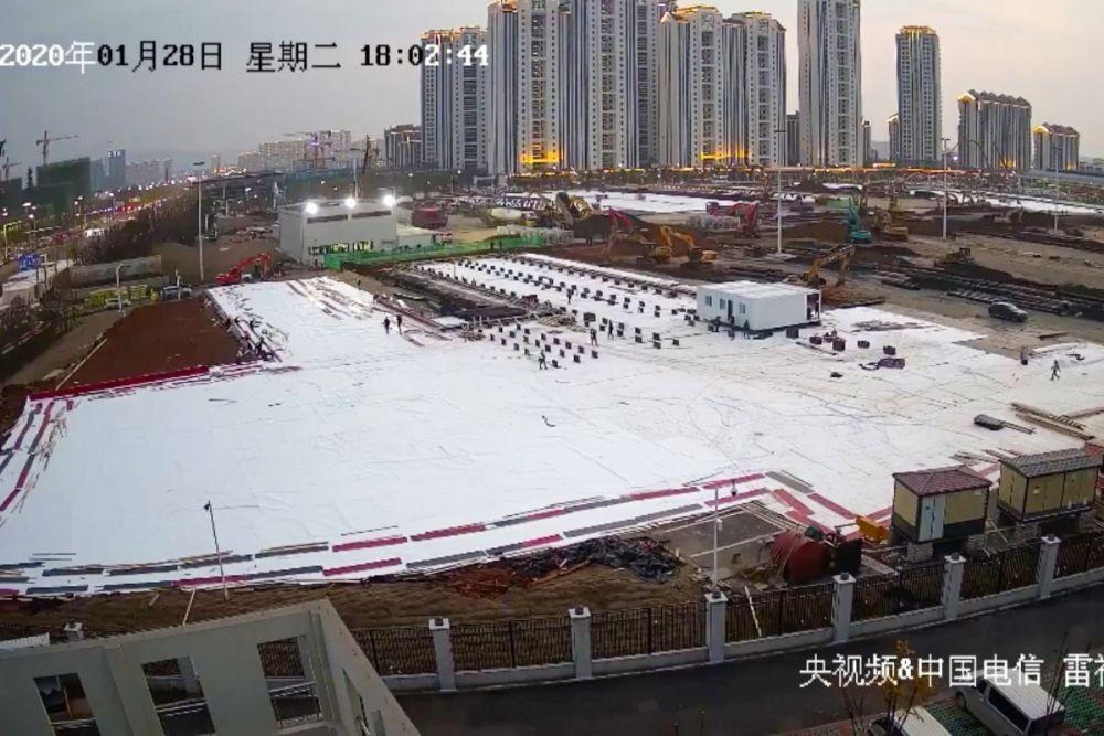 Tiongkok Bangun Rumah Sakit Virus Corona dalam 10 Hari, Ini Caranya!