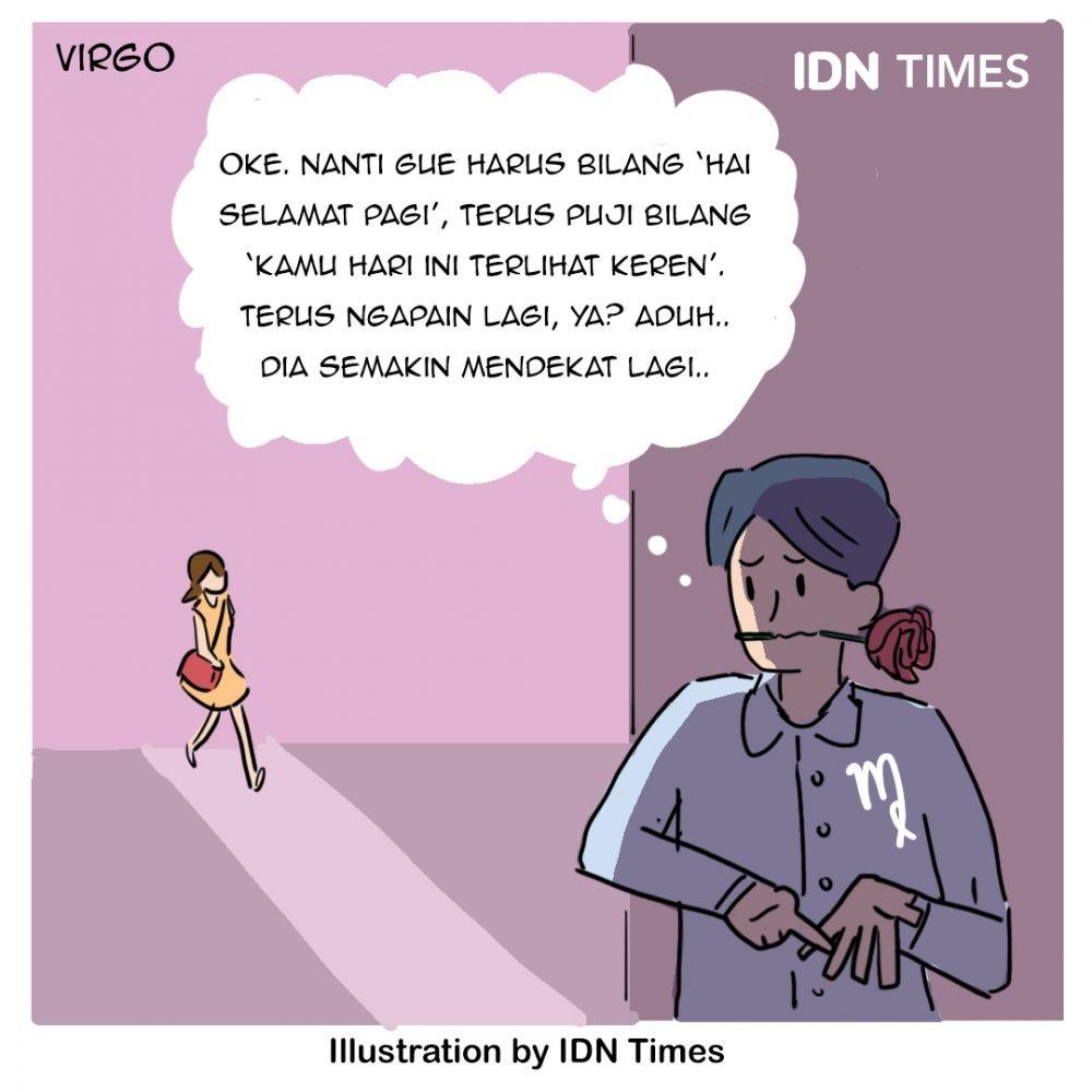 Ilustrasi Zodiak Ketika Jatuh Cinta, Siapa Paling Bucin?