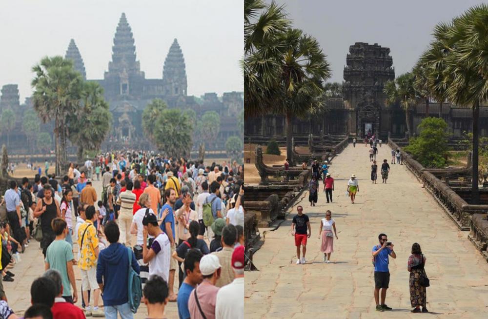 10 Potret Wisata Populer di Dunia Sebelum dan Saat Corona Menyerang