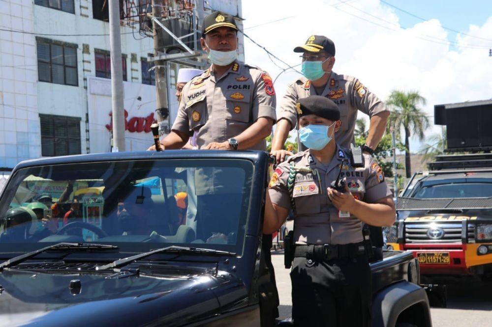 2300 Personel Polda Kawal Perwali Pengendalian COVID-19 di Makassar