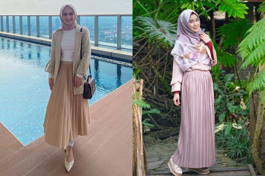 Adu Gaya Hijab Melody Laksani & Anisa Rahma, Tetap Menawan & Modis!