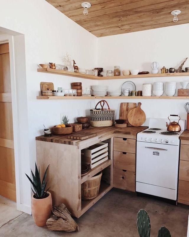 9 Inspirasi Dapur Tema Rustic, Ciamik dengan Unsur Alam yang Kental