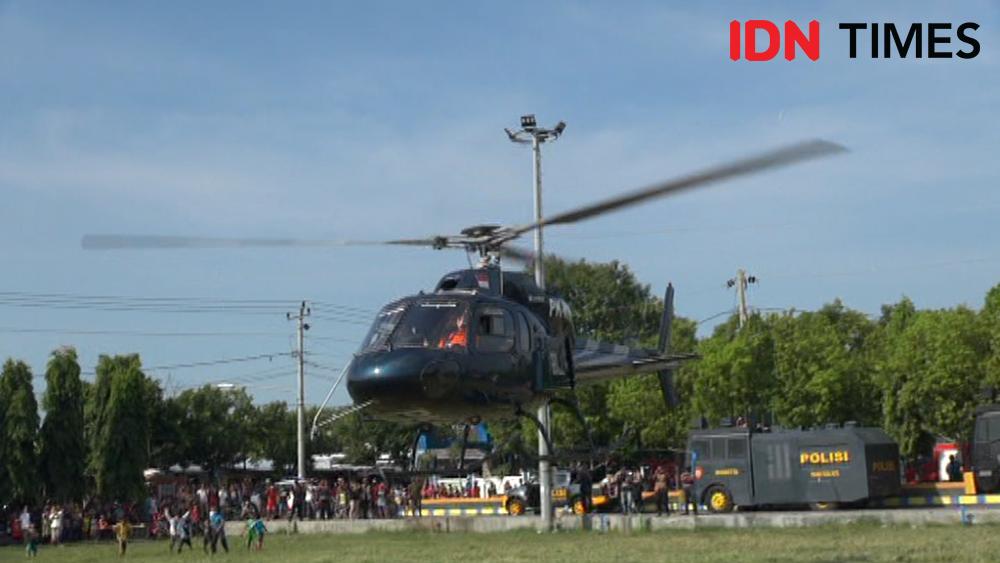 Pesta Kembang Api Batal, Warga Tegal Kocar-kacir Disemprot Disinfektan