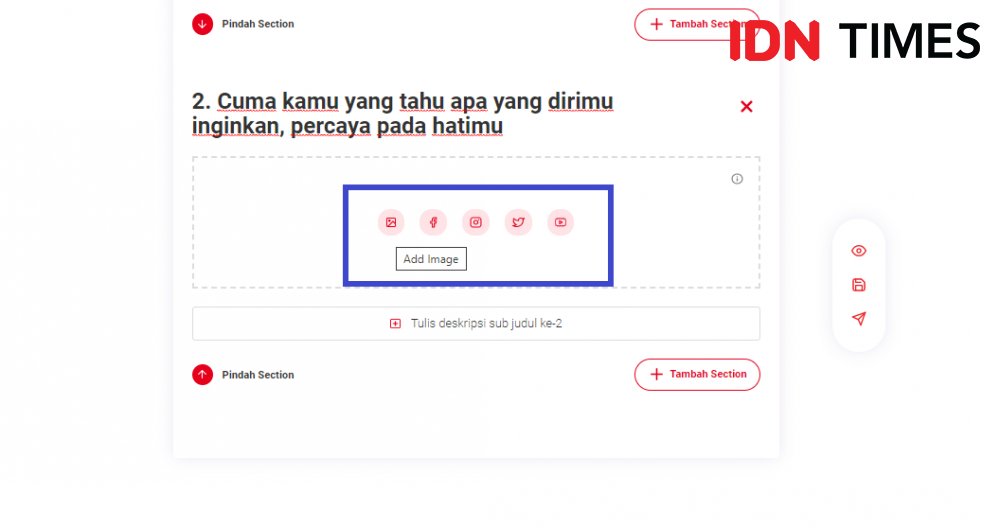 Tutorial Upload Gambar di Dashboard IDN Times Community