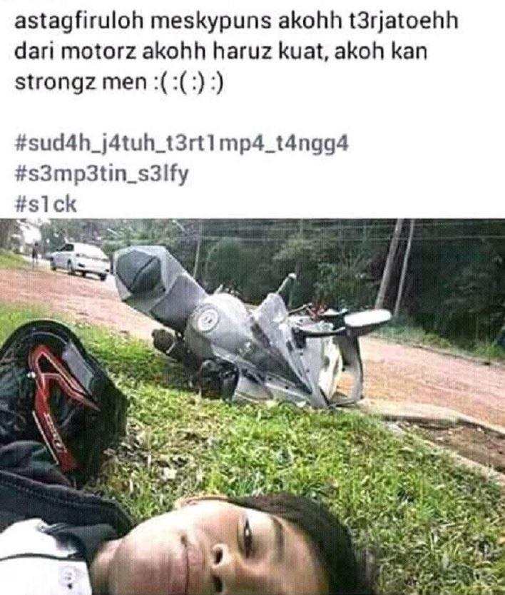 10 Potret Gaya Orang Indonesia Saat Naik Motor, Absurd Maksimal