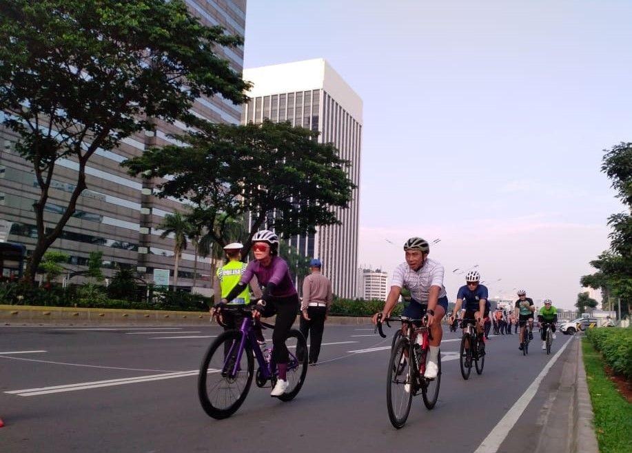 Jalur Road Bike Sudirman-Thamrin Dibuka Mulai 7 Juni, Siap-Siap Gowes!