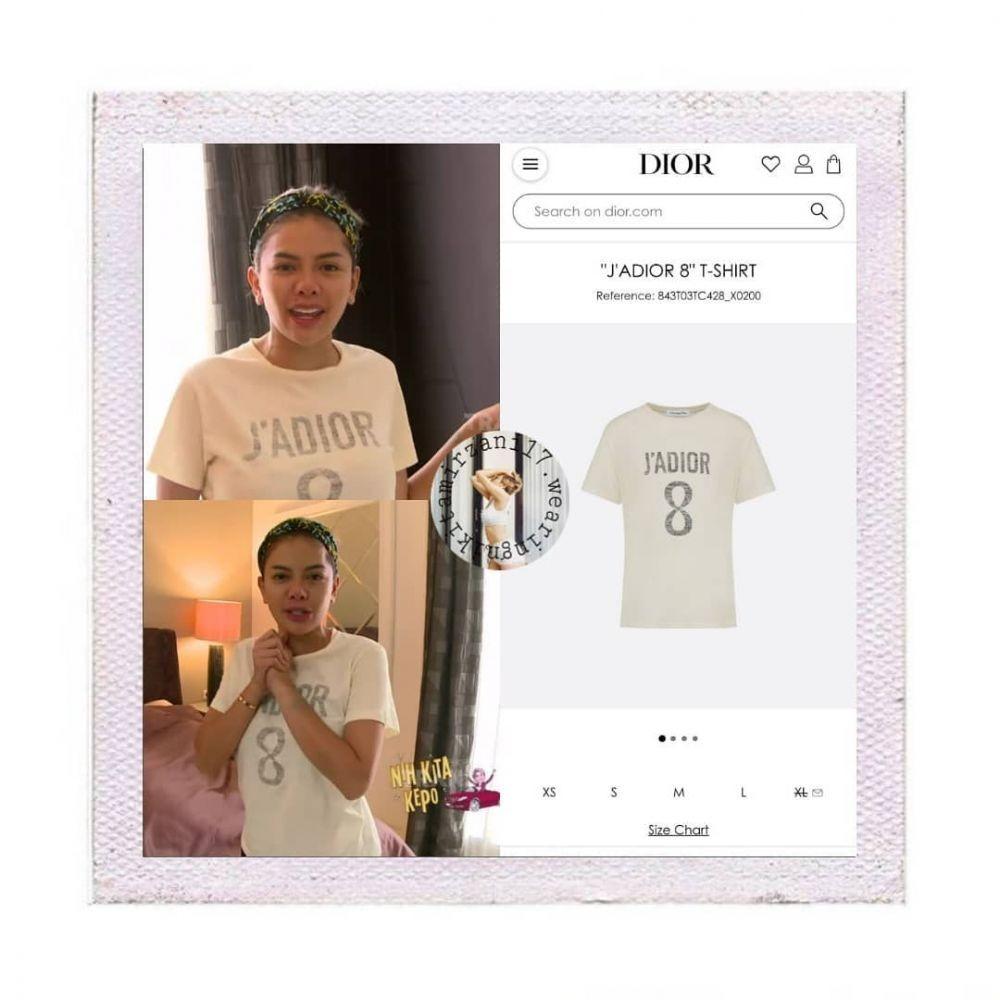 10 Harga Kaus Oblong Nikita Mirzani ini Bikin Lemas,Cuma T-Shirt Aja